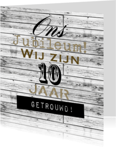 Jubileumkaarten - Woorden 10 jaar getrouwd - BK