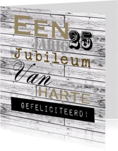 Felicitatiekaarten - Woorden 25 jarig jubileum - BK