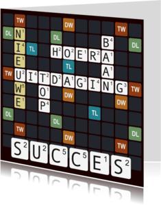 Felicitatiekaarten - Woordspel kaart voor een nieuwe baan