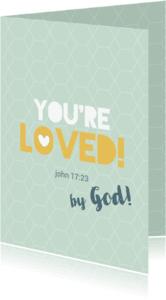 Religie kaarten - You're loved - BF