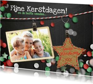 Kerstkaarten - YVON confetti kerst ster