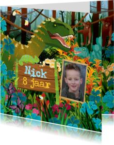 Uitnodigingen - YVON dinosaurus dino jongenskaart dieren