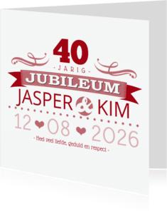 Jubileumkaarten - YVON jubileum 40 tekst retro