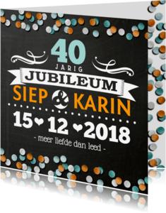 Jubileumkaarten - YVON jubileum divers krijtbord