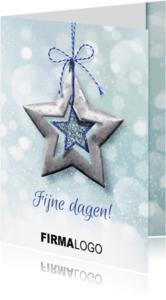 Zakelijke kerstkaarten - YVON ster blauw bling