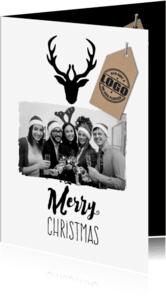 Zakelijke kerstkaarten - Zakelijk met grote foto-isf