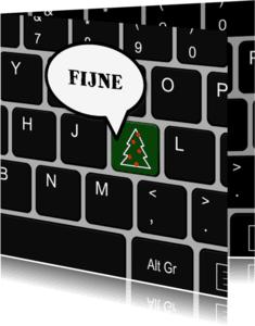 Zakelijke kerstkaarten - Zakelijke kerst toetsenbord