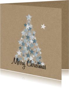 Zakelijke kerstkaarten - Zakelijke kerst zilveren boom