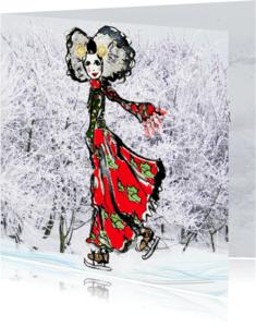 Kerstkaarten - Zeeuwse kerstkaart meisje