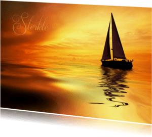 Condoleancekaarten - Zeilboot sterkte-isf