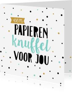 Zomaar kaarten - Zomaarkaart papieren knuffel