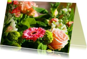 Bloemenkaarten - Zonnig bloemenbosje