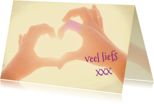 Liefde kaarten - zonnig hart