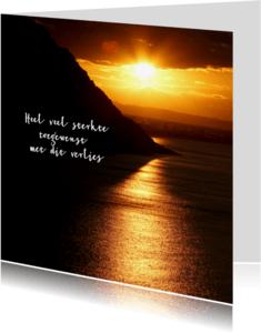 Condoleancekaarten - Zonsondergang Klein Hartje - OT