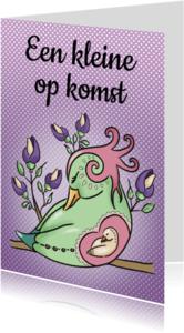 Felicitatiekaarten - Zwanger - vogel
