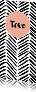 Geboortekaartjes - Zwartwit brush geboortekaartje meisje