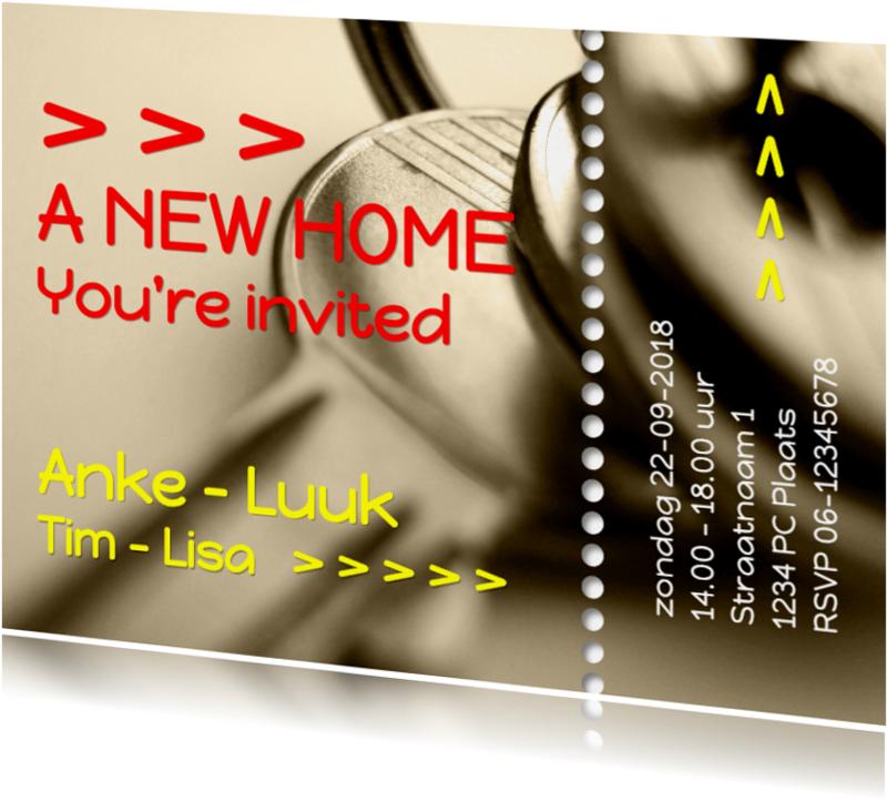 Uitnodigingen - ticket open huis