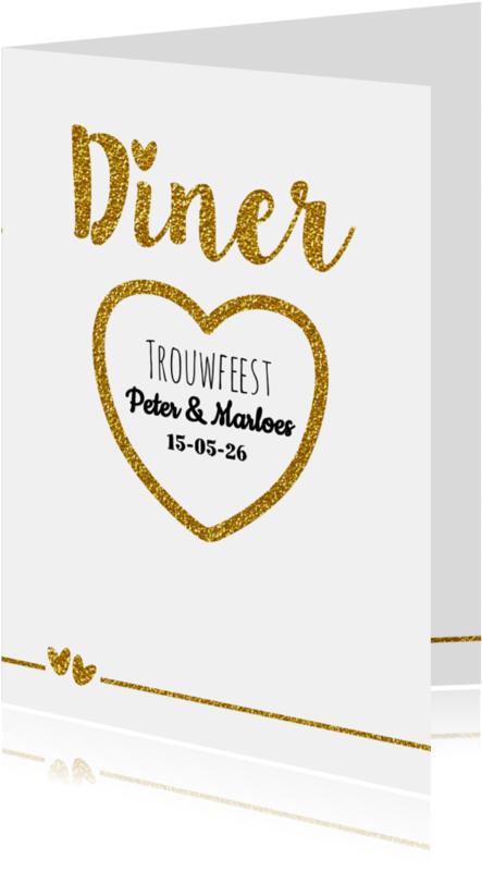 Menukaarten - Trouw menu glamour en glitter