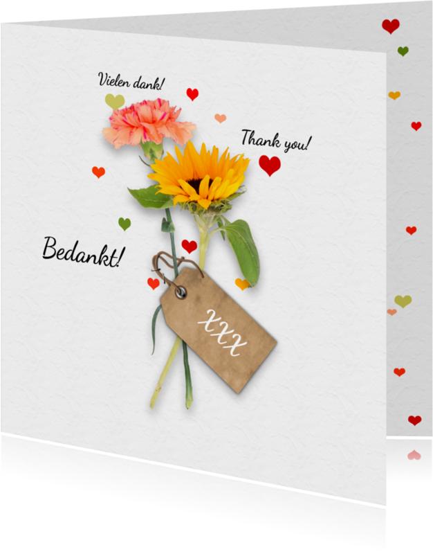 Trouwkaarten - Trouwen dank bloemen RB