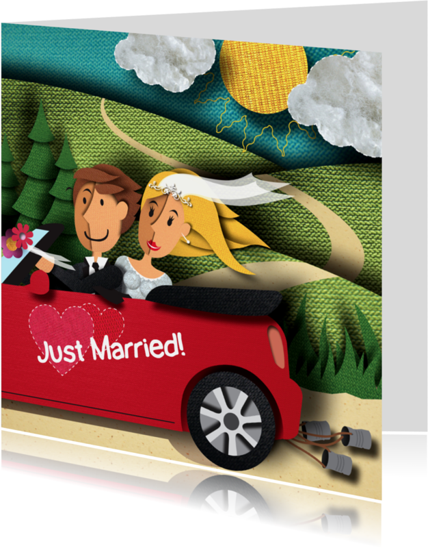 Trouwkaarten - Trouwkaart - Just Married