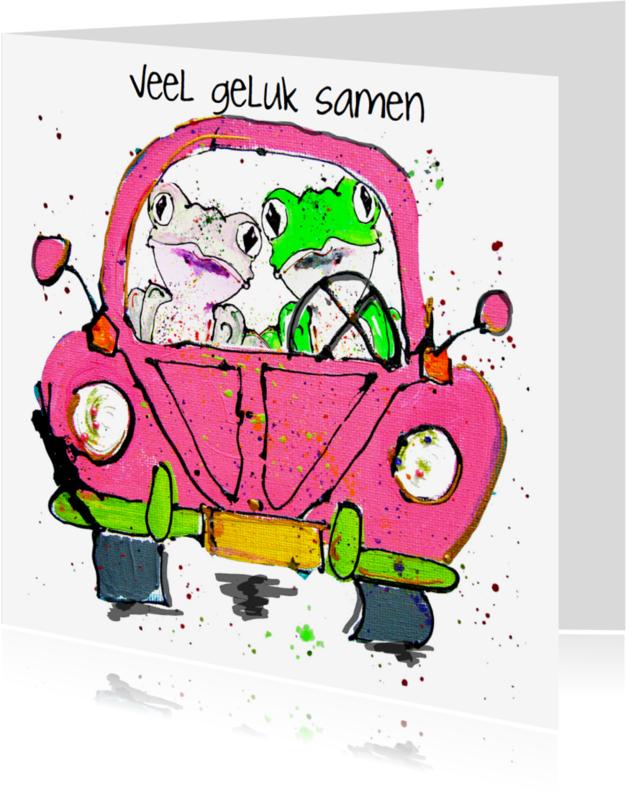 Trouwkaarten - Trouwkaart met kikkers