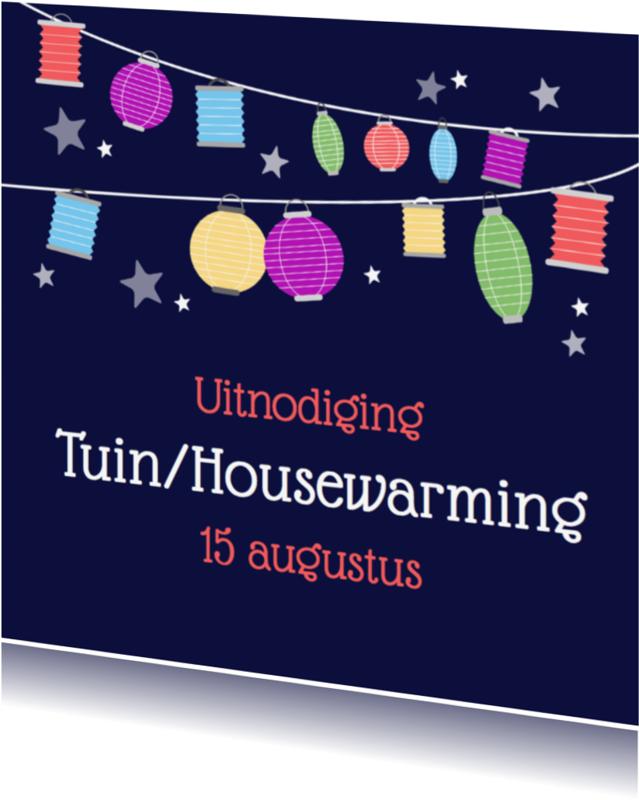 Uitnodigingen - Tuinfeest lampion 2