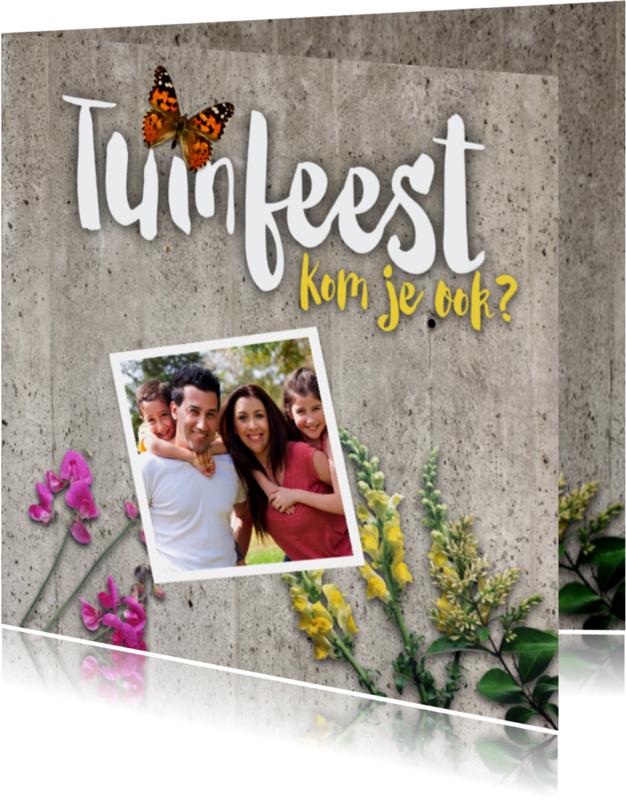 Uitnodigingen - tuinfeest vlinder-isf