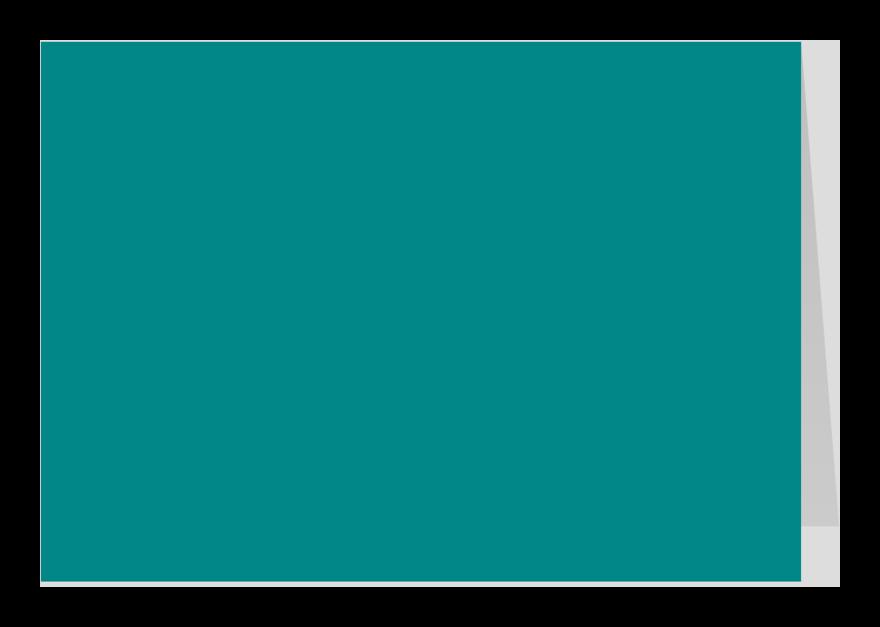 Zomaar kaarten - Turquoise dubbel liggend
