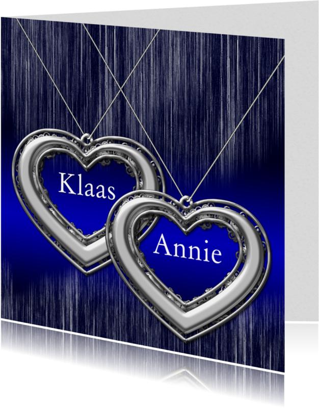 Jubileumkaarten - twee harten zelf invullen a