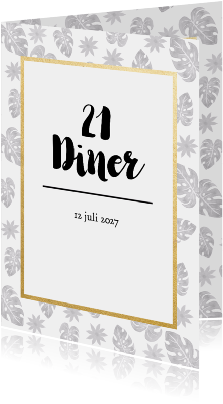 Uitnodigingen - Uitnodiging 21 diner tropical - DH