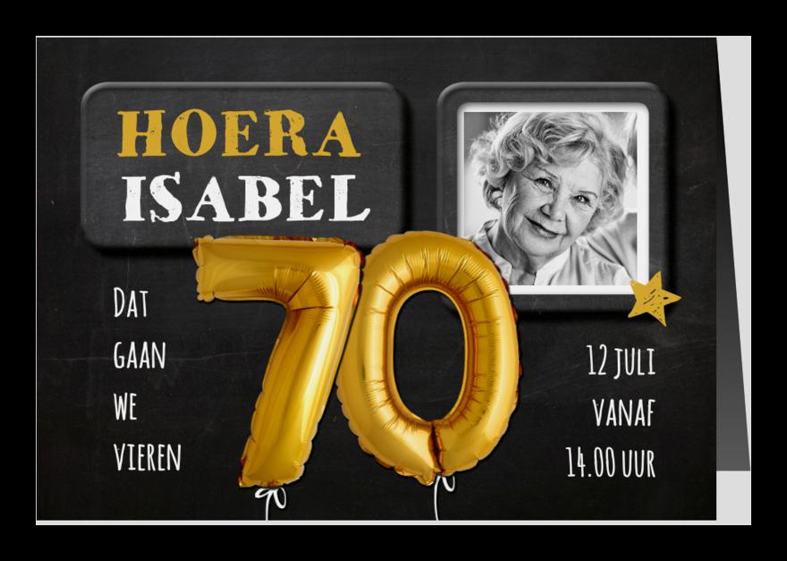 Uitnodigingen - Uitnodiging 70 jaar Ballon - SG