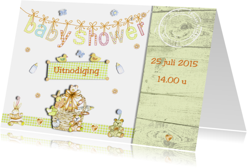 Uitnodigingen - Uitnodiging Babyshower boy and girl