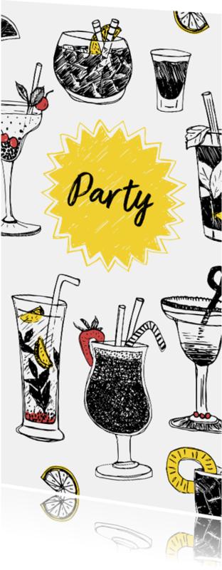 Uitnodigingen - Uitnodiging borrel cocktailparty