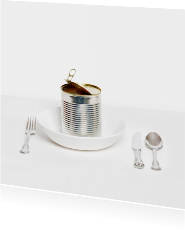 Uitnodigingen - Uitnodiging etentje - Blik Blanco