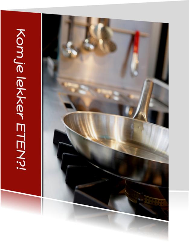 Uitnodigingen - Uitnodiging etentje - Who is cooking