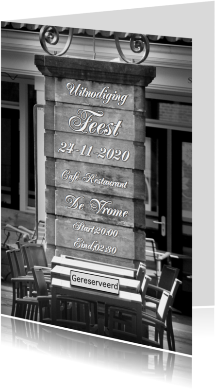 Uitnodigingen - uitnodiging feest gereserveerd