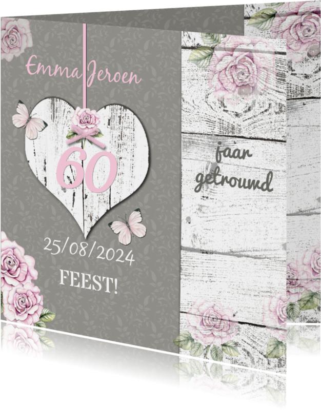 Uitnodigingen - Uitnodiging hart van hout