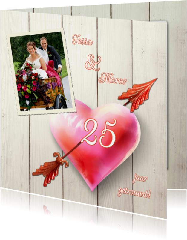 Jaar getrouwd uitnodiging jubileum kaartje go