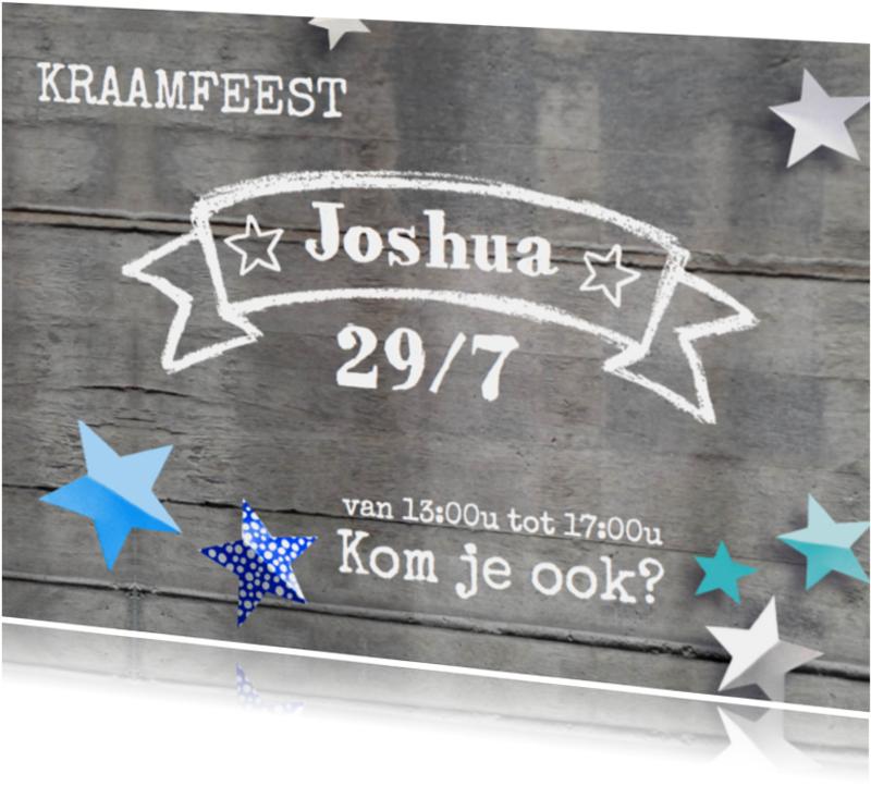 Uitnodigingen - Uitnodiging kraamfeest sterren