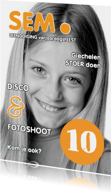 Kinderfeestjes - Uitnodiging Magazine Cover 2 OT