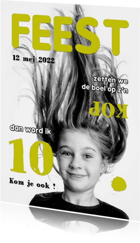 Kinderfeestjes - Uitnodiging Magazine Cover 4 - OT