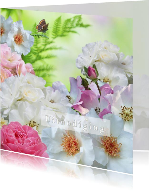 Uitnodigingen - Uitnodiging met rozen 2