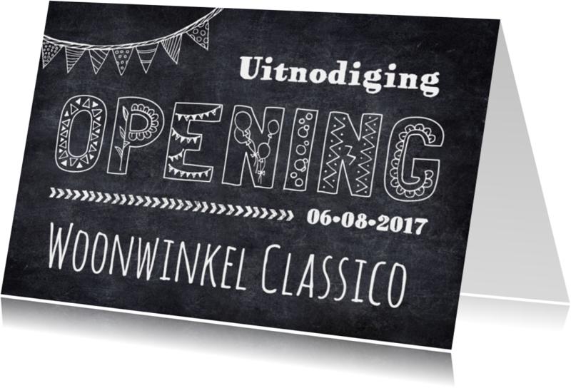 Uitnodigingen - Uitnodiging opening krijtbord
