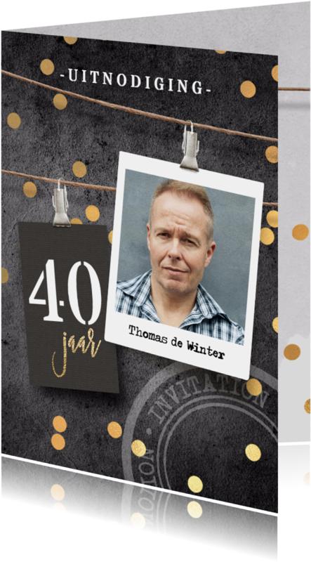 Uitnodigingen - Uitnodiging verjaardag 40 man
