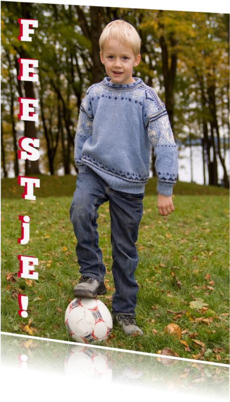 Kinderfeestjes - Uitnodiging voetbalfeestje