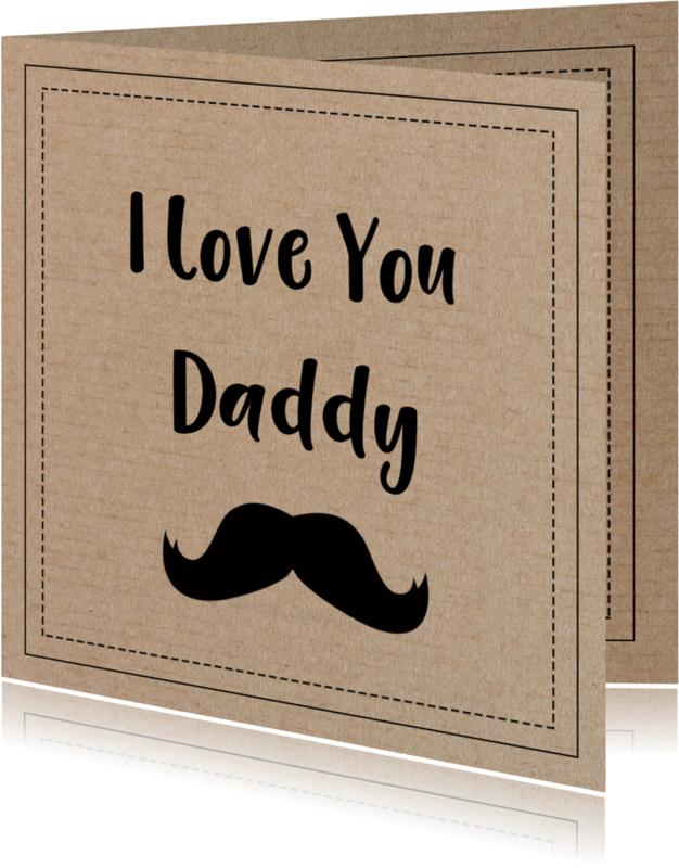 Vaderdag kaarten - Vaderdag snor