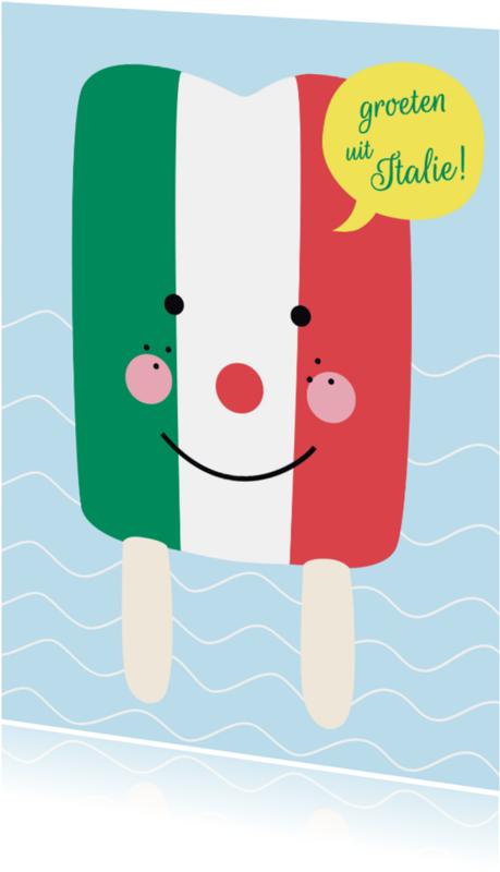 Vakantiekaarten - Vakantie-Groeten uit Italie!-HK