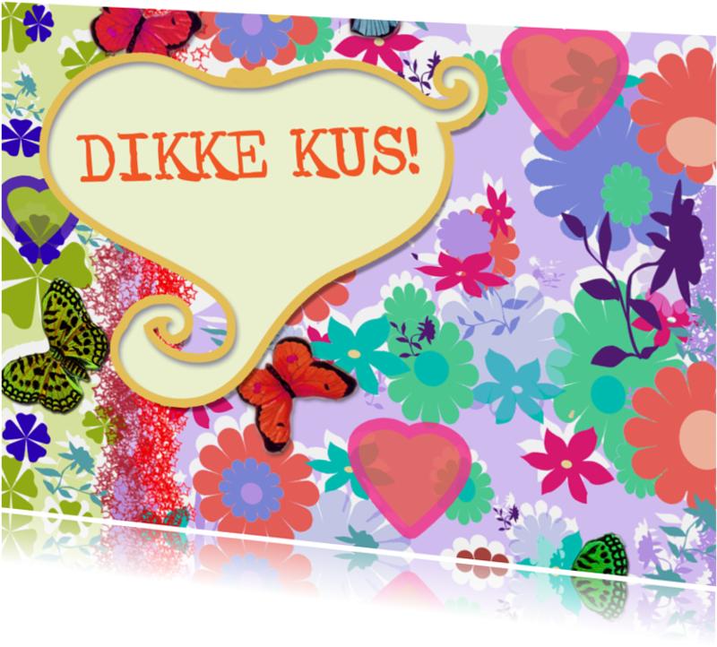 Vriendschap kaarten - Valentijnskaart dikke kus Lind-y