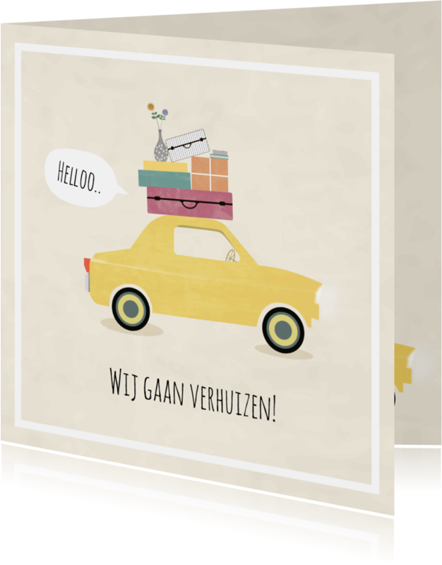 Verhuiskaarten - Verhuiskaart auto vintage - SV