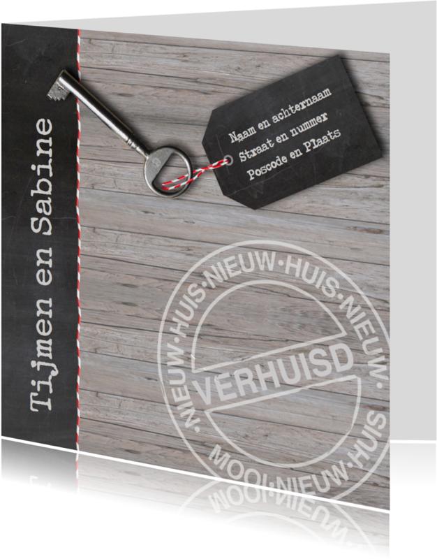 Verhuiskaarten - Verhuiskaart krijt en touwtje